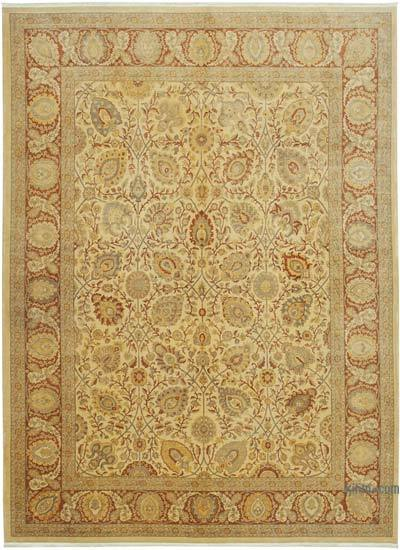 """New Hand Knotted Wool Oushak Rug - 8' 6"""" x 11' 8"""" (102 in. x 140 in.)"""