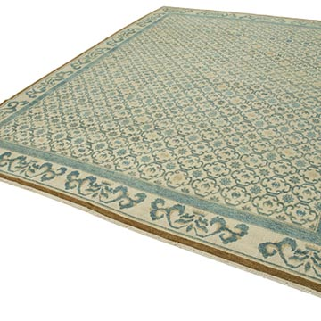 """New Hand Knotted Wool Oushak Rug - 8' 10"""" x 11' 8"""" (106 in. x 140 in.) - K0040546"""