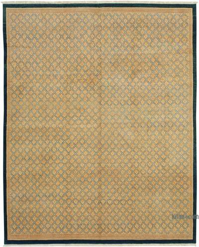 "Beige New Hand Knotted All Wool Oushak Rug - 8' 1"" x 9' 11"" (97 in. x 119 in.)"