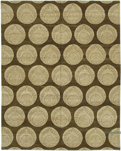 """New Hand Knotted Wool Oushak Rug - 8'  x 10' 2"""" (96 in. x 122 in.)"""