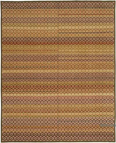 "New Hand Knotted All Wool Oushak Rug - 8' 2"" x 9' 11"" (98 in. x 119 in.)"