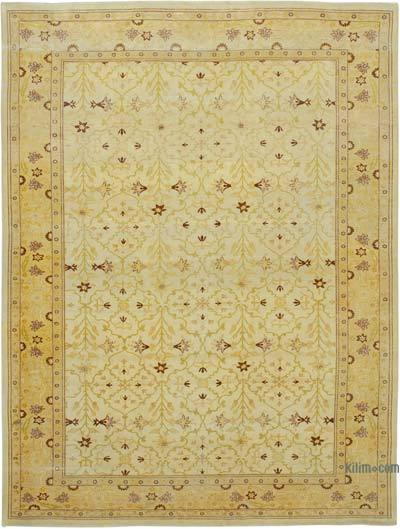 "New Hand Knotted All Wool Oushak Rug - 9' 11"" x 13' 4"" (119 in. x 160 in.)"