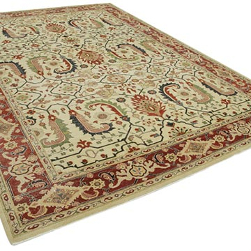 """New Hand Knotted Wool Oushak Rug - 8' 10"""" x 11' 11"""" (106 in. x 143 in.) - K0040559"""