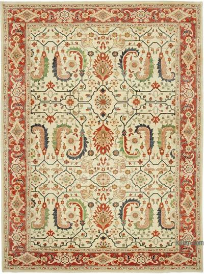 """New Hand Knotted All Wool Oushak Rug - 8'10"""" x 11'11"""" (106 in. x 143 in.)"""