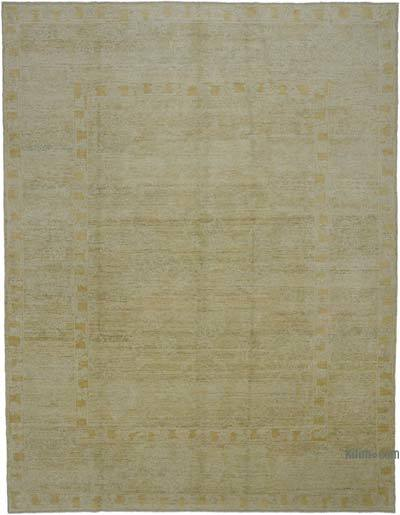 "New Hand Knotted All Wool Oushak Rug - 9' 2"" x 11' 11"" (110 in. x 143 in.)"