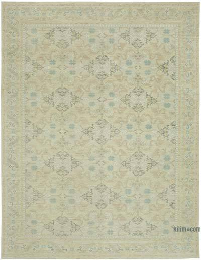 "New Hand Knotted All Wool Oushak Rug - 9'  x 11' 7"" (108 in. x 139 in.)"
