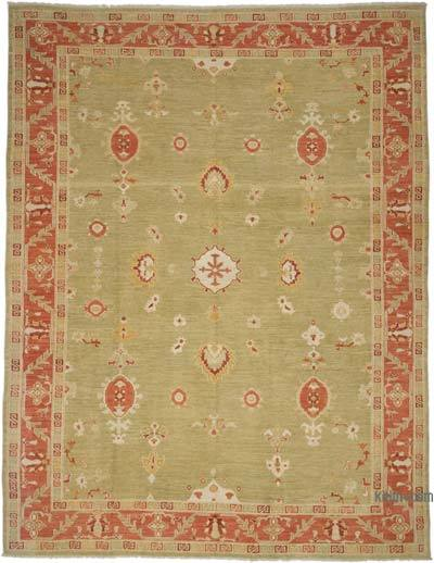 "New Hand Knotted All Wool Oushak Rug - 9' 6"" x 12' 6"" (114 in. x 150 in.)"