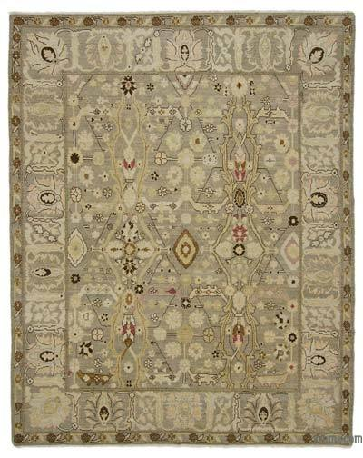 "New Hand Knotted All Wool Oushak Rug - 7' 10"" x 9' 10"" (94 in. x 118 in.)"