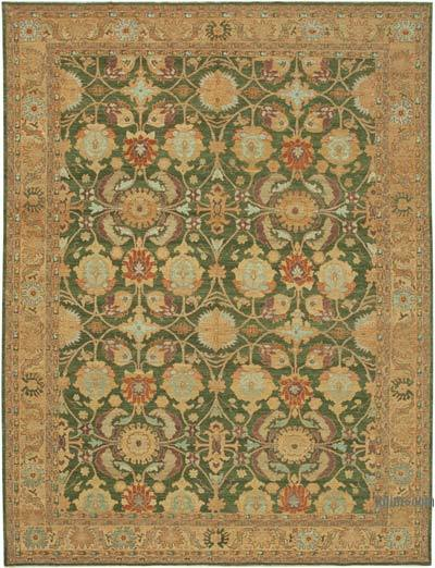"New Hand Knotted All Wool Oushak Rug - 9' 1"" x 12'  (109 in. x 144 in.)"