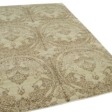 """Beige New Hand Knotted Wool Oushak Rug - 6'  x 8' 11"""" (72 in. x 107 in.) - K0040585"""