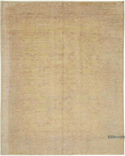 "New Hand Knotted All Wool Oushak Rug - 8'2"" x 10' (98 in. x 120 in.)"