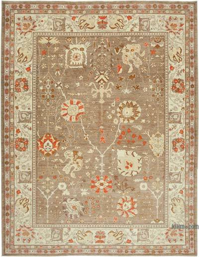 "New Hand Knotted All Wool Oushak Rug - 9'2"" x 11'11"" (110 in. x 143 in.)"