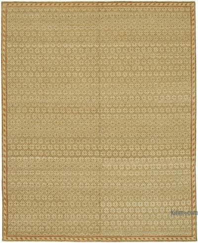 """Brown New Hand Knotted Wool Oushak Rug - 8'  x 9' 11"""" (96 in. x 119 in.)"""