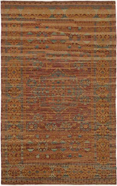 "New Hand Knotted All Wool Oushak Rug - 5' 2"" x 8' 4"" (62 in. x 100 in.)"