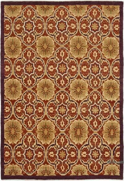 "New Hand Knotted All Wool Oushak Rug - 6' x 8'8"" (72 in. x 104 in.)"