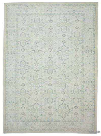 "New Hand Knotted All Wool Oushak Rug - 9' x 12'6"" (108 in. x 150 in.)"