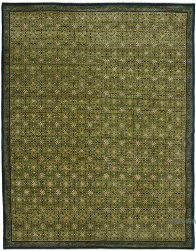 "New Hand Knotted All Wool Oushak Rug - 7'10"" x 10' (94 in. x 120 in.)"