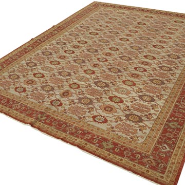 """New Hand Knotted Wool Oushak Rug - 8'  x 9' 10"""" (96 in. x 118 in.) - K0040604"""