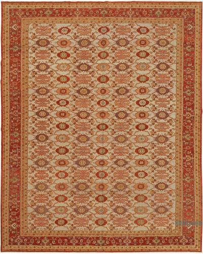 """New Hand Knotted Wool Oushak Rug - 8'  x 9' 10"""" (96 in. x 118 in.)"""
