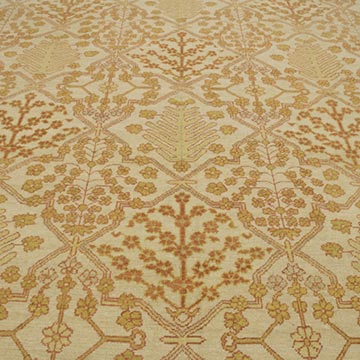 """New Hand Knotted Wool Oushak Rug - 9' 1"""" x 12' 6"""" (109 in. x 150 in.) - K0040609"""