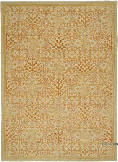 """New Hand Knotted All Wool Oushak Rug - 9'1"""" x 12'6"""" (109 in. x 150 in.)"""