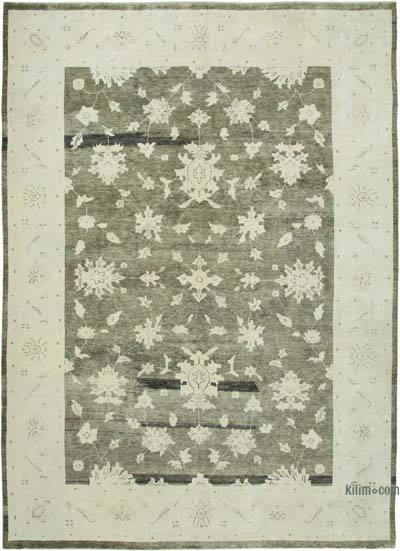 """New Hand Knotted All Wool Oushak Rug - 9' 4"""" x 13' 3"""" (112 in. x 159 in.)"""