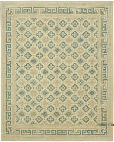 """New Hand Knotted All Wool Oushak Rug - 8'  x 9' 10"""" (96 in. x 118 in.)"""