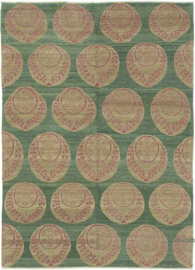 """New Hand Knotted All Wool Oushak Rug - 5' 9"""" x 8'  (69 in. x 96 in.)"""