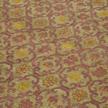 """Green, Purple New Hand Knotted Wool Oushak Rug - 6'  x 9' 11"""" (72 in. x 119 in.) - K0040623"""