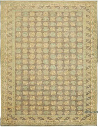 "New Hand Knotted All Wool Oushak Rug - 8' 10"" x 11' 8"" (106 in. x 140 in.)"