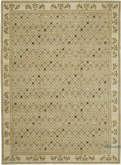 "New Hand Knotted All Wool Oushak Rug - 10' x 13'11"" (120 in. x 167 in.)"