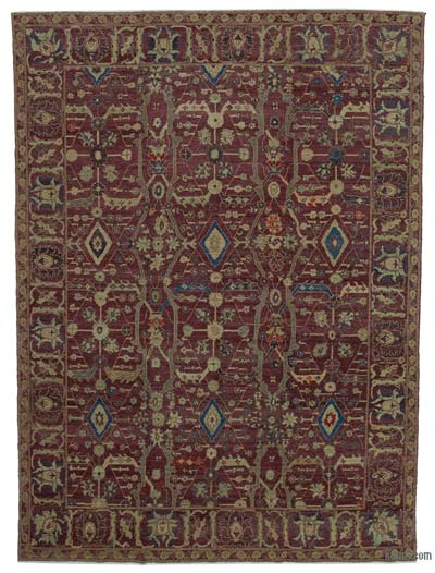 """New Hand Knotted All Wool Oushak Rug - 8'11"""" x 12'2"""" (107 in. x 146 in.)"""