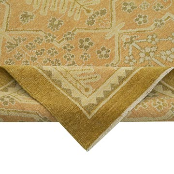 """New Hand Knotted Wool Oushak Rug - 9' 1"""" x 12'  (109 in. x 144 in.) - K0040633"""