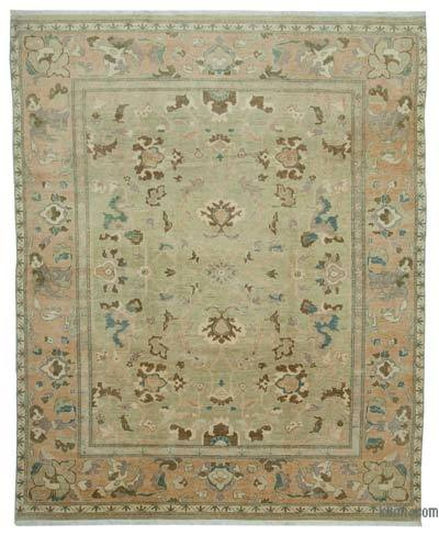 "New Hand Knotted All Wool Oushak Rug - 9'11"" x 12'2"" (119 in. x 146 in.)"