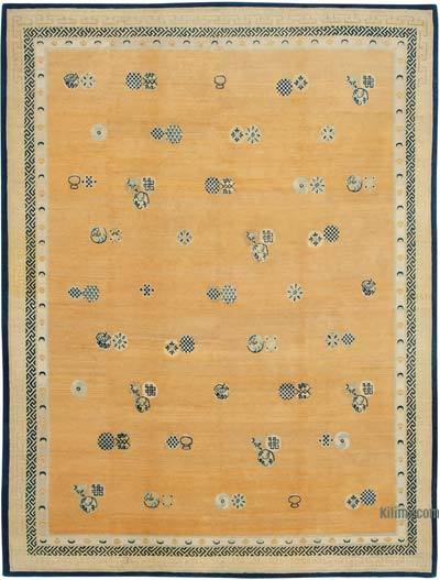 "New Hand Knotted All Wool Oushak Rug - 9' 5"" x 12' 3"" (113 in. x 147 in.)"