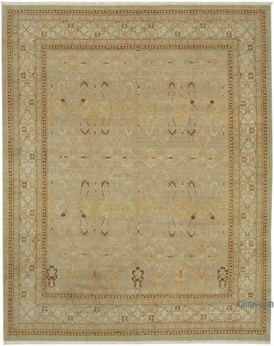 "New Hand Knotted All Wool Oushak Rug - 8'6"" x 10'8"" (102 in. x 128 in.)"