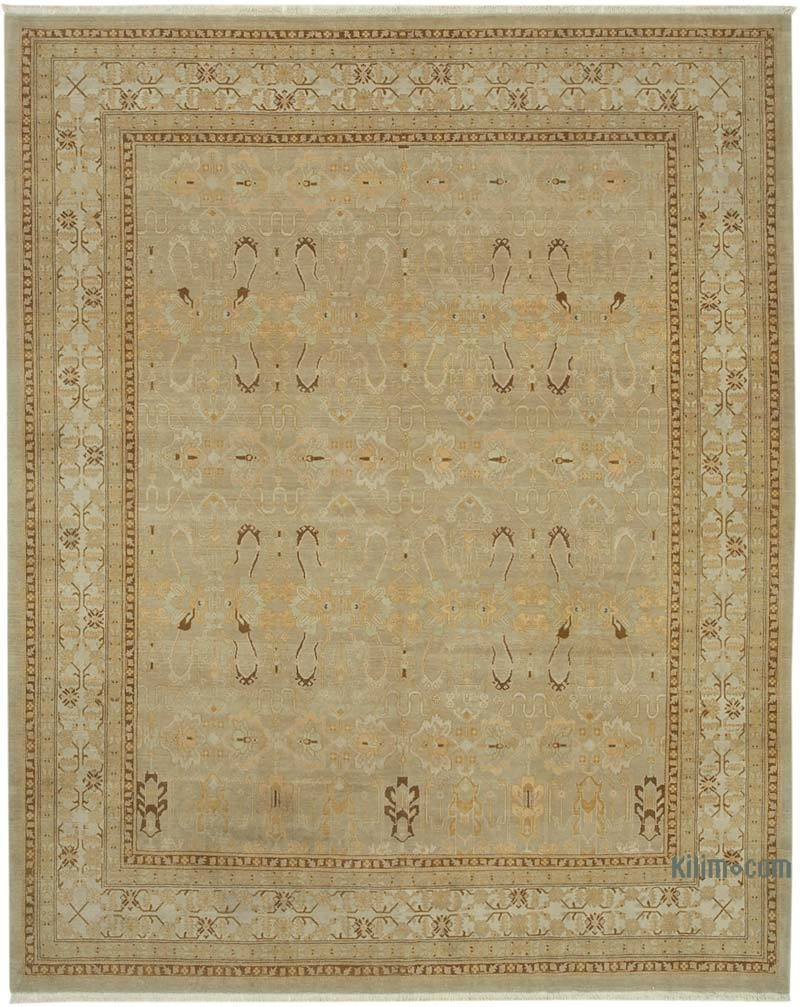 New Hand Knotted All Wool Oushak Rug - 8' 6# x 10' 8# (102 in. x 128 in.) - K0040636