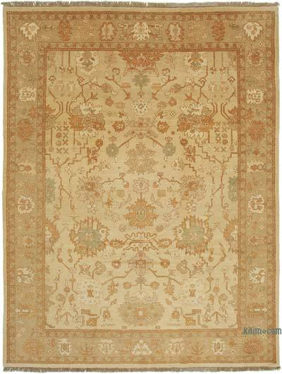 "New Hand Knotted All Wool Oushak Rug - 9' x 11'11"" (108 in. x 143 in.)"