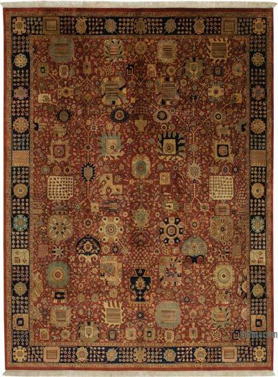 New Hand Knotted All Wool Oushak Rug - 9'  x 12'  (108 in. x 144 in.)