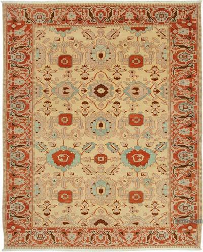 """New Hand Knotted Wool Oushak Rug - 9' 2"""" x 11' 6"""" (110 in. x 138 in.)"""