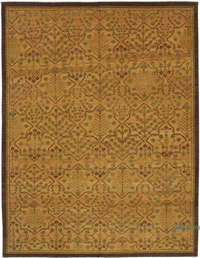 """New Hand Knotted All Wool Oushak Rug - 8' 10"""" x 11' 10"""" (106 in. x 142 in.)"""