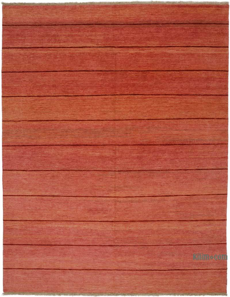"""Red New Hand Knotted Wool Oushak Rug - 9' 3"""" x 11' 11"""" (111 in. x 143 in.) - K0040646"""