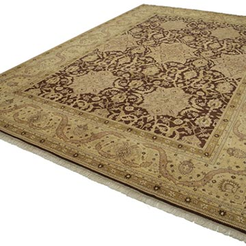 """New Hand Knotted Wool Oushak Rug - 9' 10"""" x 14' 1"""" (118 in. x 169 in.) - K0040648"""