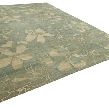 """New Hand Knotted Wool Oushak Rug - 10' 1"""" x 13' 11"""" (121 in. x 167 in.) - K0040650"""