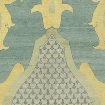 """New Hand Knotted Wool Oushak Rug - 8' 11"""" x 11' 11"""" (107 in. x 143 in.) - K0040654"""