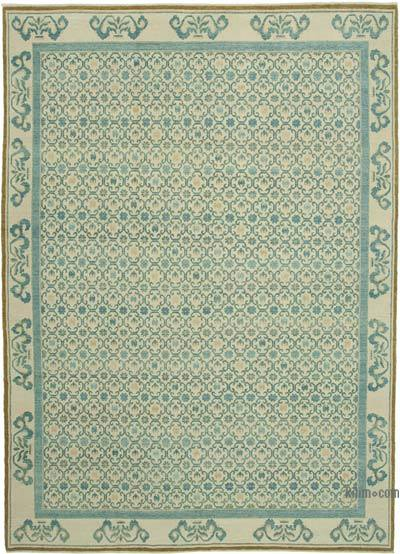 """New Hand Knotted All Wool Oushak Rug - 9' 11"""" x 13' 11"""" (119 in. x 167 in.)"""