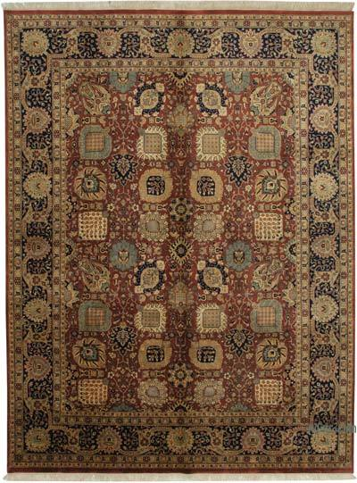"New Hand Knotted All Wool Oushak Rug - 8'11"" x 11'9"" (107 in. x 141 in.)"