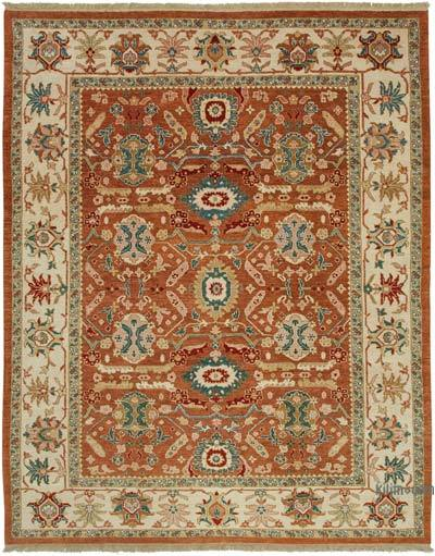 "New Hand Knotted All Wool Oushak Rug - 9'2"" x 11'10"" (110 in. x 142 in.)"