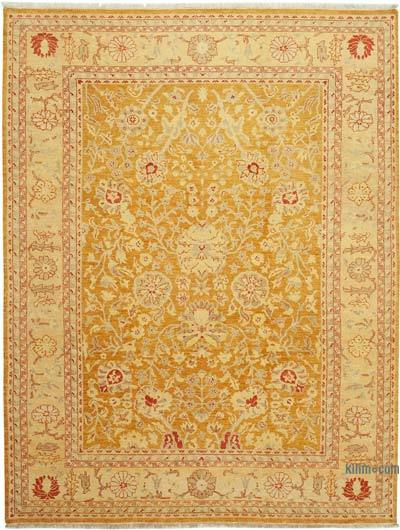 "New Hand Knotted All Wool Oushak Rug - 9'  x 11' 10"" (108 in. x 142 in.)"