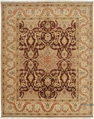 "New Hand Knotted All Wool Oushak Rug - 7' 10"" x 9' 8"" (94 in. x 116 in.)"